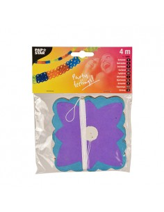 Guirnalda de papel colores decoración fiesta Ø 11,5 cm x 4 m
