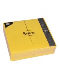 Servilletas de papel hostelería color amarillo Bistro 40 x 32cm