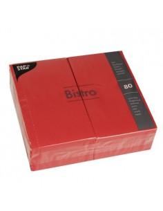 Servilletas de papel hostelería color rojo Bistro 40 x 32cm
