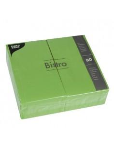 Servilletas de papel hostelería color verde oliva Bistro 40 x 32cm