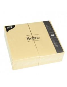 Servilletas de papel hostelería color champan Bistro 40 x 32cm