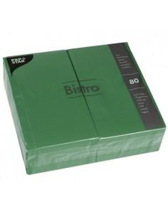 Servilletas de papel hostelería color verde Oscuro Bistro 40 x 32cm