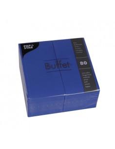 Servilletas de papel hostelería Buffet color azul oscuro 33 x 33 cm