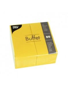 Servilletas de papel hostelería Buffet color amarillo 33 x 33 cm