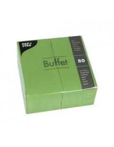 Servilletas de papel hostelería Buffet color verde oliva 33 x 33 cm