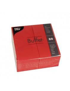 Servilletas de papel hostelería Buffet color rojo 33 x 33 cm