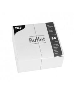 Servilletas de papel hostelería Buffet color blanco 33 x 33 cm