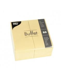 Servilletas de papel hostelería Buffet color champan 33 x 33 cm
