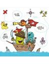 Servilletas papel para fiestas infantiles piratas 33 x 33 cm