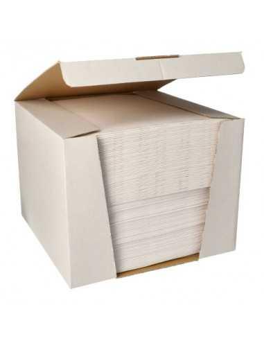 Servilletas papel aspecto tela color blanco Royal Collection 40 x40 cm