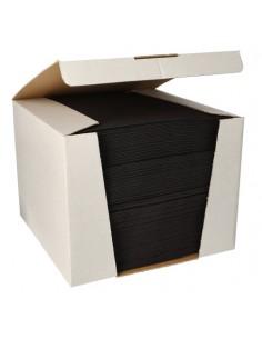 Servilletas papel aspecto tela color burdeos Royal Collection 40 x40 cm