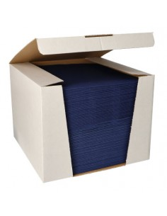 Servilletas papel aspecto tela color azul oscuro Royal Collection 40 x40 cm