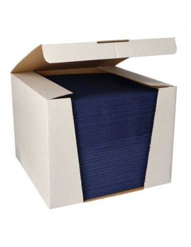 Servilletas papel aspecto tela color azul oscuro Royal Collection 40 x40 cm