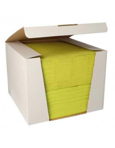 Servilletas papel aspecto tela color verde limón Royal Collection 40 x40 cm