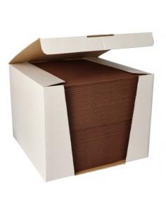 Servilletas papel aspecto tela color marrón Royal Collection 40 x40 cm