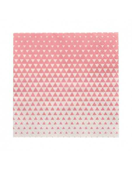 Servilletas de papel decoradas color rosa 25 x 25 cm Optik
