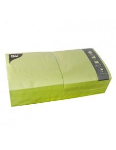 Servilletas de papel hostelería color verde lima 40 x 40 cm