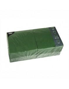 Servilletas de papel hostelería color verde oscuro 33 x 33 cm