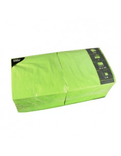 Servilletas de papel hostelería color verde claro 33 x 33 cm
