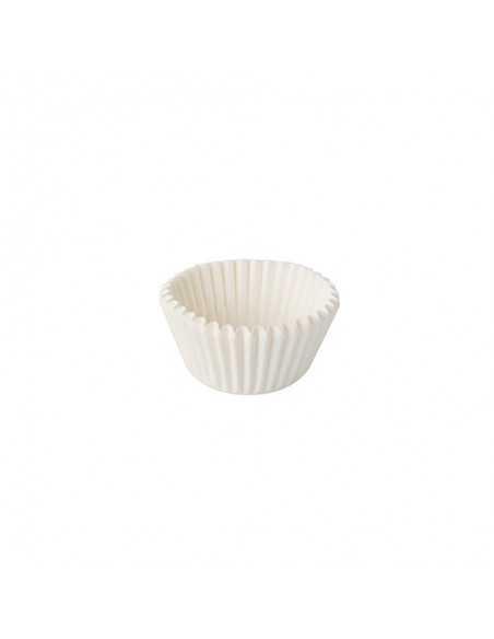 Capsulas para mini magdalenas papel blanco Ø 2,4 x 1,6cm