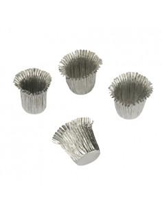Sujeta velas de aluminio color plata Ø 1,9 x2,7 cm