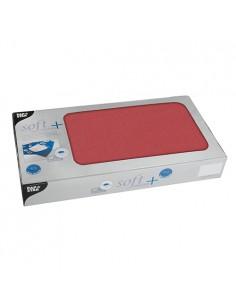 Manteles individuales papel rojo aspecto tela Soft Selection Plus 80 x 80cm
