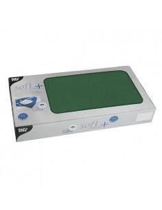 Manteles individuales papel verde oscuro aspecto tela Soft Selection Plus 80 x 80 cm