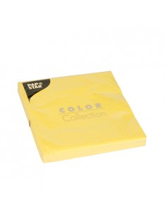 Servilletas de papel amarillo económicas 33 x 33cm