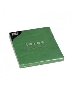 Servilletas de papel verde oscuro económicas 33 x 33cm