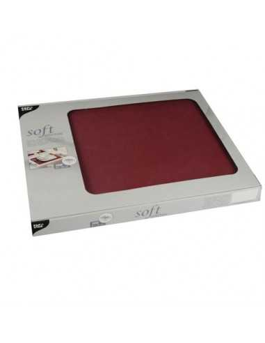 Mantelitos individuales papel aspecto tela burdeos 30 x 40 cm Soft Selection