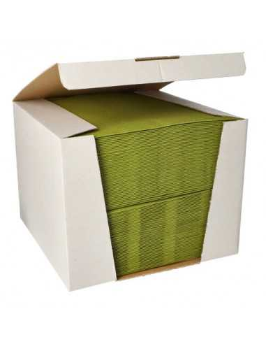 Servilletas papel aspecto tela color verde oliva Royal Collection 40 x40 cm