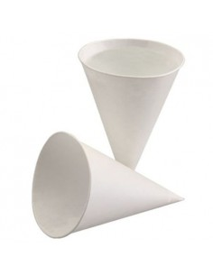 Copos cônicos papel cana de açúcar branco para dispensadores de água 150 ml