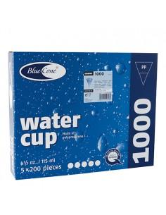 Vasos cónicos plástico azul para dispensadores de agua 115ml