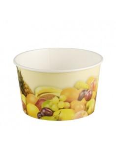 Tarrinas para helado cartón decorado frutas 250ml