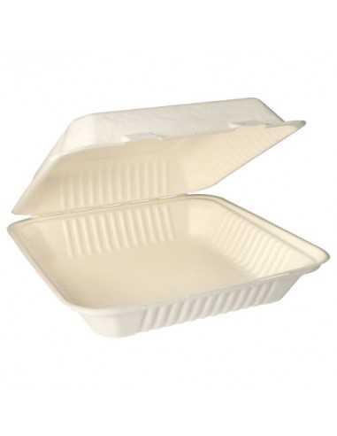 Envases comida compostables con tapa caña de azúcar 1200 ml Pure