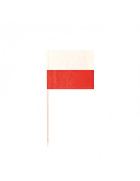 Palillos bandera Polonia decorativos de 8 cm