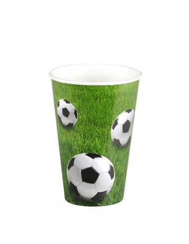 Vasos cartón fiestas infantiles futbol compostables 200ml