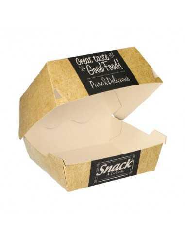 Cajas para hamburguesas grande cartón Good Food Pure 12,5 x 12,5 cm