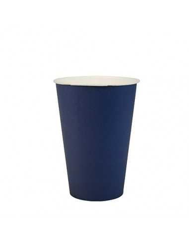 Vasos de cartón azul oscuro para fiestas compostables 200ml