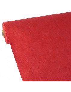 Mantel papel aspecto tela color rojo rollo 40 x 1,18 m Soft Selection