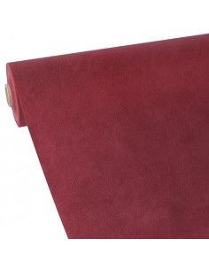 Mantel papel aspecto tela color burdeos rollo 40 x 0,9 m Soft Selection