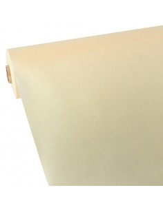 Mantel papel aspecto tela color crema rollo 40 x 0,9 m Soft Selection