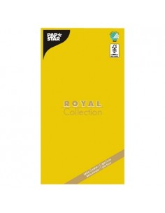 Mantel de papel individual amarillo 120 x 180 cm Royal Collection