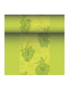Camino mesa papel aspecto tela decorado color verde Royal Collection 24 m x 40 cm Thalia