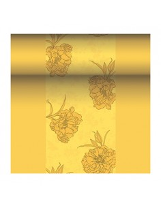 Camino mesa papel aspecto tela decorado color amarillo Royal Collection 24 m x 40 cm Thalia