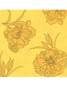 Servilletas de papel decoradas color amarillo Royal Collection 40 x 40 cm Thalia