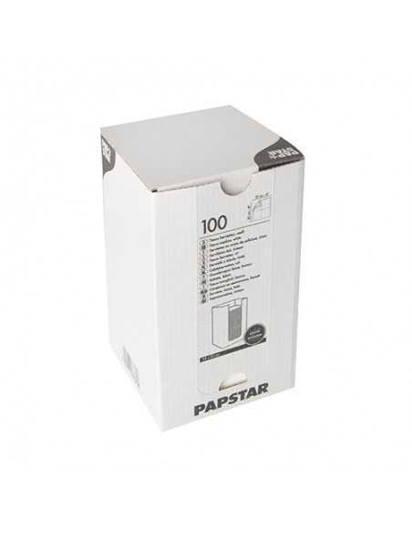 Servilletas de papel coctel color blanco Punto 20 x 20 cm Micro-Gofrado