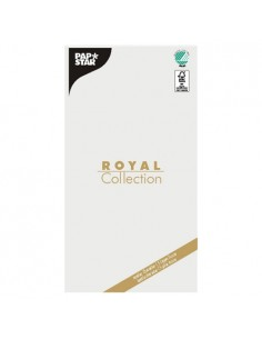 Mantel de papel individual blanco 120 x 180 cm Royal Collection