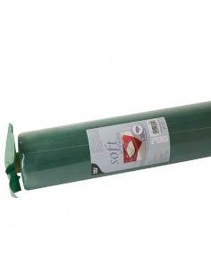 Mantel papel aspecto tela verde oscuro rollo 25 x 1,18 m Soft Selection