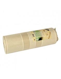 Camino mesa papel aspecto tela decorado color champan Royal Collection 24 m x 40 cm Elegance
